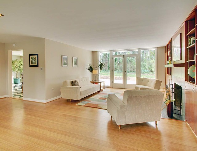 Bamboo Flooring Living Room Color Schemes Gray