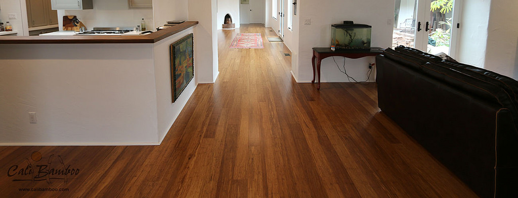 Distressed Java Fossilized Bamboo Flooring Cali