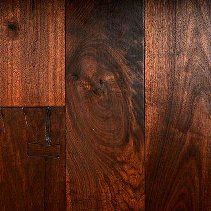 American Walnut Rustic Garrison Hardwood Floors Santa