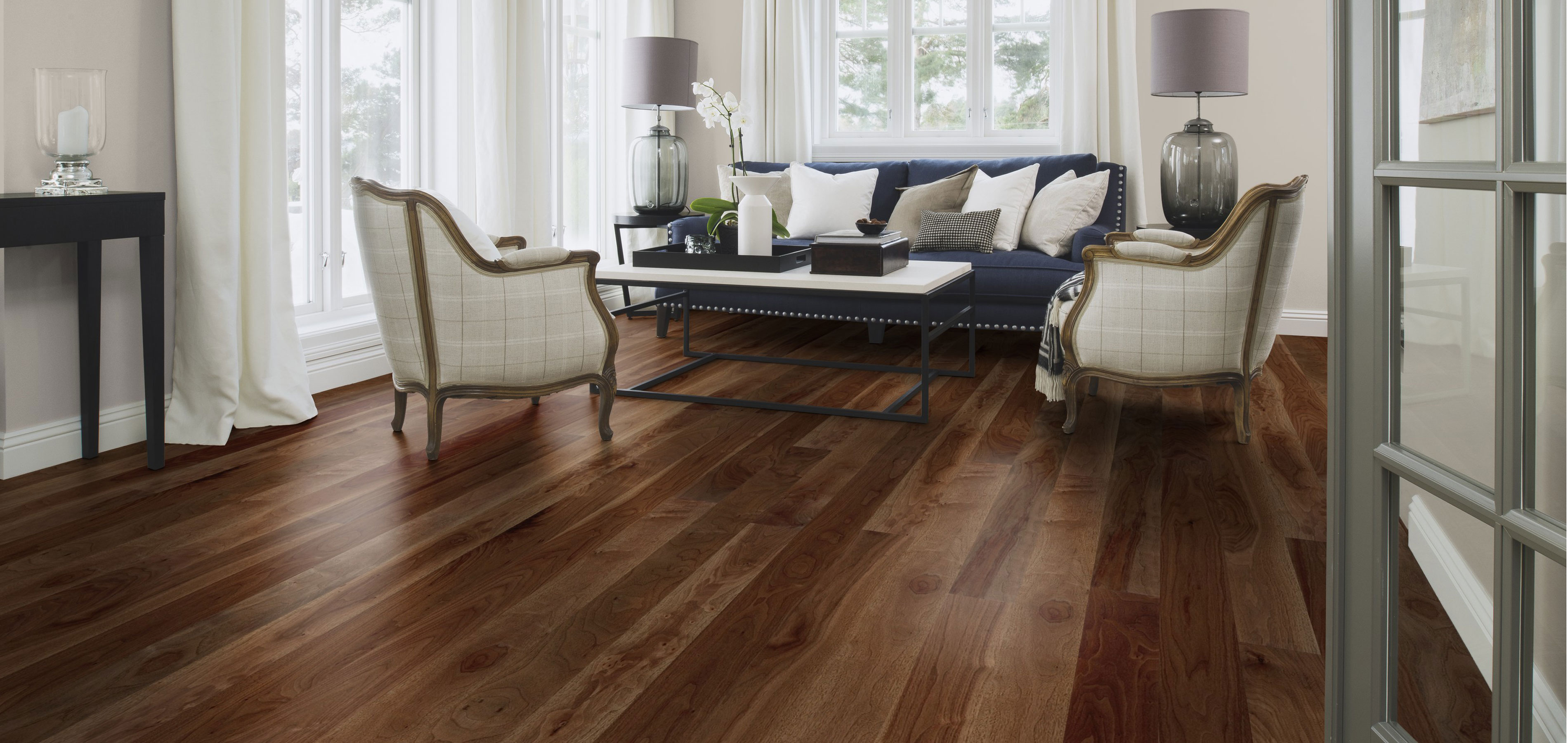 Boen flooring walnut andante plank wood flooring store for Hardwood flooring stores