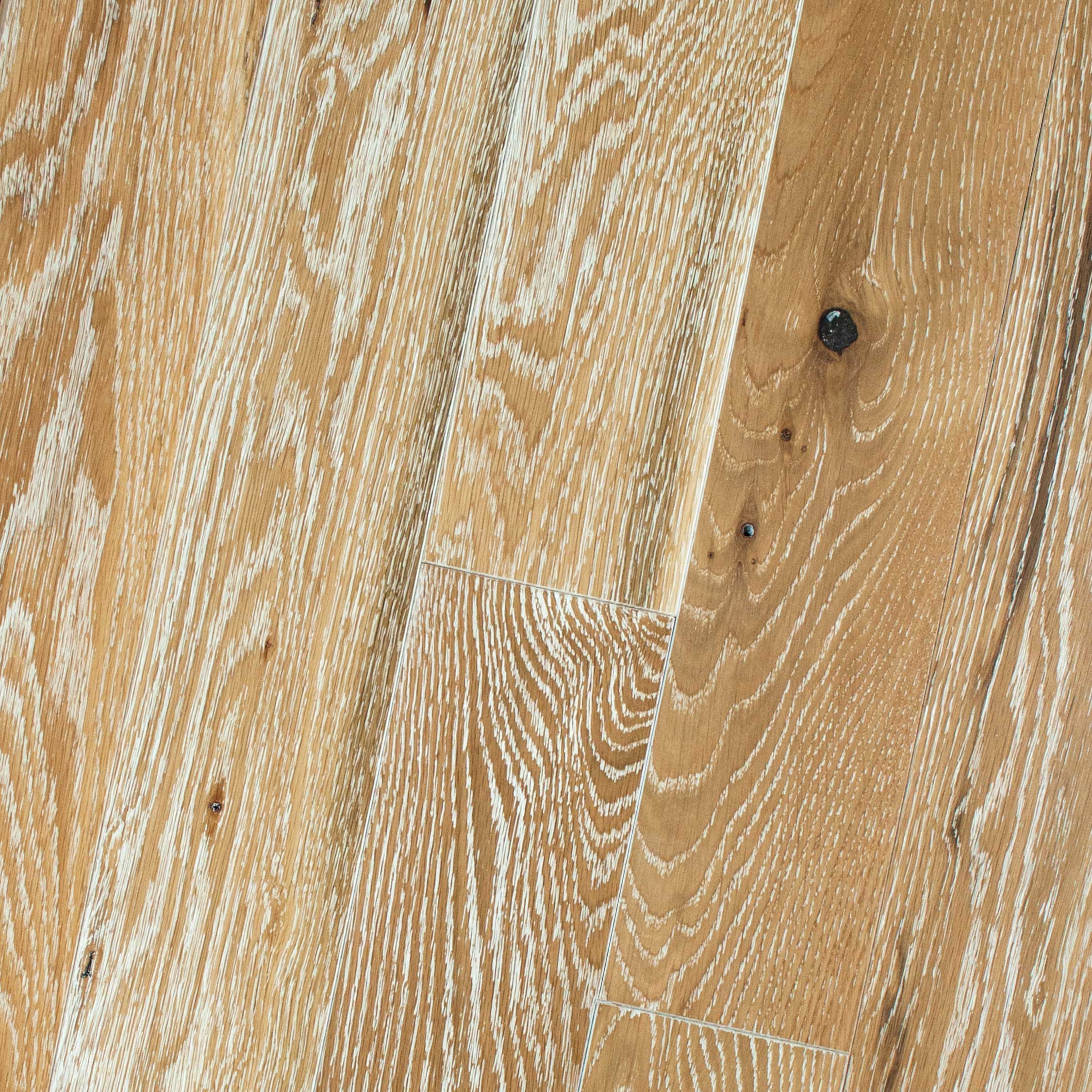 White Oak Natural White Limed Wire Brushed