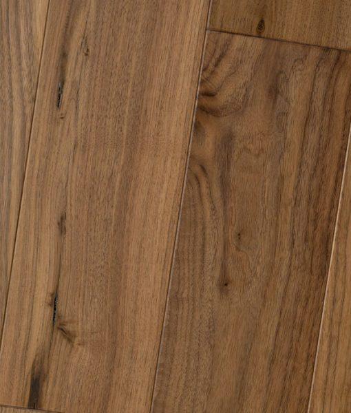Solid Brazilian Walnut Hardwood Flooring: Black Walnut Natural Amish Soft-Scraped