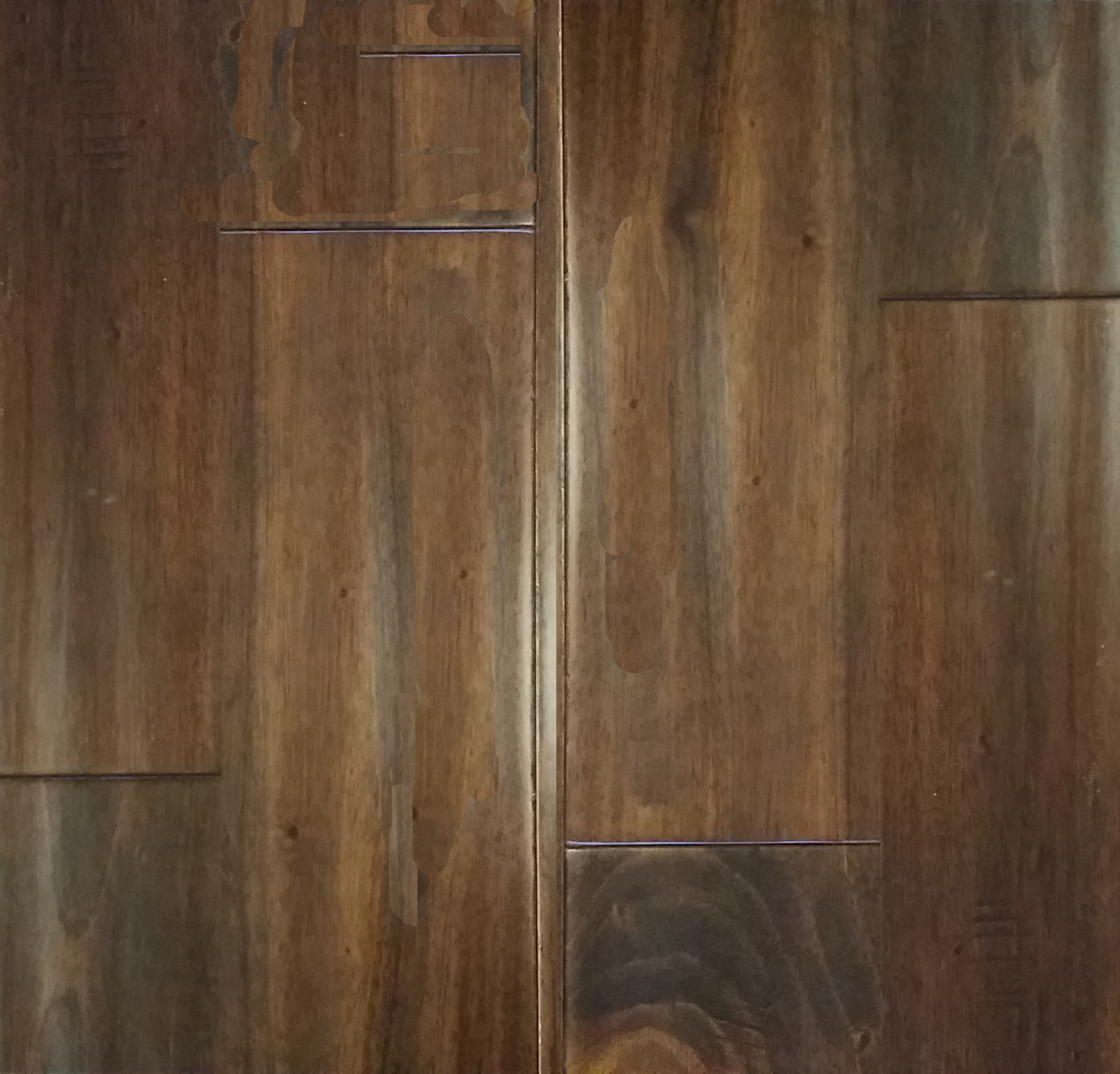 African Cherry Flooring: African Mahogany Cocoa Distressed